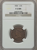 Half Cents, 1826 1/2 C Fine 12 Brown NGC. NGC Census: (4/273). PCGS Population(2/288). Mintage: 234,000. Numismedia Wsl. Price for pro...