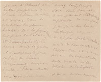 A LETTER FROM FRENCH PAINTER, ÉDOUARD MANET (1832-1883) TO RENOIR  THE RENOIR COLLECTION