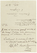 Other:European, A LETTER FROM FRENCH ART HISTORIAN, ÉLIE FAURE (1873-1937) TORENOIR. THE RENOIR COLLECTION. ...