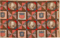 Political:Textile Display (pre-1896), James A. Garfield: Colorful Yard Goods with Quilt Design....