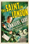 "Movie Posters:Mystery, The Saint in London (RKO, 1939). One Sheet (27"" X 41"").. ..."