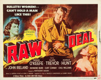 "Raw Deal (Eagle Lion, 1948). Half Sheets (2) (22"" X 28"") ""Hat On"" & ""Hat Off"" Styles..."