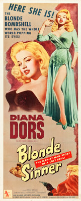 "Blonde Sinner (Allied Artists, 1956). Insert (14"" X 36"")"