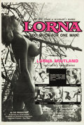 "Movie Posters:Sexploitation, Lorna (Eve Productions, 1964). One Sheet (28"" X 42"") Day-Glo PinkStyle.. ..."