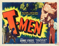 "Movie Posters:Film Noir, T-Men (Eagle Lion, 1947). Half Sheet (22"" X 28"") Style B.. ..."