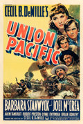"""Movie Posters:Western, Union Pacific (Paramount, 1939). One Sheet (27"""" X 41"""").. ..."""