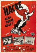 "Movie Posters:Animated, Woody Woodpecker Festival (Universal, 1950). Swedish One Sheet(27.5"" X 39.5""). Directed by Walter Lantz. Starring Woody Woo..."