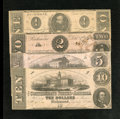 Confederate Notes:1862 Issues, 1862 Notes.. ... (Total: 4 notes)
