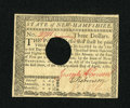 Colonial Notes:New Hampshire, New Hampshire April 29, 1780 $3 Choice About New....
