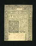 Colonial Notes:Connecticut, Connecticut July 1, 1775 40s Uncancelled Choice New....