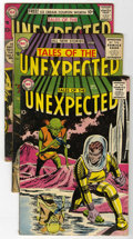 Silver Age (1956-1969):Horror, Tales of the Unexpected Group (DC, 1956-58) Condition: Average VG-.... (Total: 5 Comic Books)