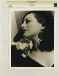 """Joan Crawford by George Hurrell - Lost Hollywood Collection (1933). Still (10"""" X 12.75""""). Taken in 1933, this..."""