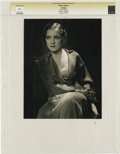"Movie Posters:Miscellaneous, Lullaby - Culver Pictures (MGM, 1931). Still (8.25"" X 10.5""). HelenHayes by George Hurrell for MGM as per stamped capti..."