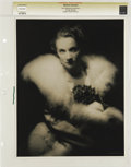 "Movie Posters:Miscellaneous, Marlene Dietrich - Lost Hollywood Collection (undated). Still(10.5"" X 13.5""). Marlene Dietrich by Eugene Robert Richee...."