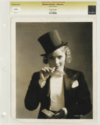"""Morocco - Culver Pictures (Paramount, 1930). Still (8"""" X 10""""). Marlene Dietrich. A famous image of Dietrich as..."""