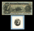 Canadian Currency: , Montreal, PQ- The Merchants Bank of Canada $5 Jan. 1, 1900 Ch.460-14-02. ... (Total: 2 items)