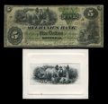 Canadian Currency: , Montreal, PQ- The Mechanics Bank $5 June 1, 1872 Ch. 430-10-08. ...(Total: 2 items)