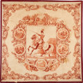 Political:Textile Display (pre-1896), William Henry Harrison: Equestrian Bandanna....