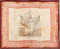 Political:Textile Display (pre-1896), Zachary Taylor: Highly Unusual Silk Bandanna....