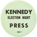 Political:Pinback Buttons (1896-present), John F. Kennedy: Rare & Desirable Election Night Button....