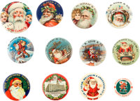 Collection of Santa Claus Buttons