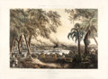 "Antiques:Posters & Prints, Henry Walke, Lithograph, ""The Naval Expedition under Comre. Perry,ascending the Tabasco River at the Devils Bend, June 15th, ..."