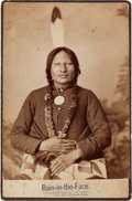 Photography:Cabinet Photos, Cabinet Card: D. F. Barry Photograph of Lakota ChiefRain-in-the-Face....