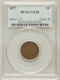 Indian Cents: , 1877 1C VF20 PCGS. PCGS Population (126/1326). NGC Census:(76/864). Mintage: 852,500. Numismedia Wsl. Price for problem fr...