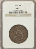 Bust Half Dollars: , 1833 50C AU53 NGC. NGC Census: (101/860). PCGS Population(117/753). Mintage: 5,206,000. Numismedia Wsl. Price for problem...
