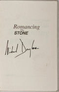 Autographs:Celebrities, Michael Douglas, American Actor. SIGNED BOOK. Signature on thehalf-title page of Romancing the Stone, which Douglas sta...