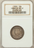 Commemorative Silver: , 1893 25C Isabella Quarter MS61 NGC. NGC Census: (197/2895). PCGSPopulation (176/3783). Mintage: 24,214. Numismedia Wsl. Pr...