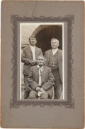Photography:Studio Portraits, Photograph of Geronimo and Friends, Circa 1905....