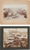 Photography:Cabinet Photos, Religion and Commerce: Mounted Photographs of Mennonites in RuralOklahoma and Commerce in a Large City, Circa 1899.... (Total: 2Items)