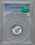 Mercury Dimes, 1937 10C MS67 Full Bands PCGS. CAC. Forsythe II. PCGS Population(748/39). NGC Census: (501/15). Mintage: 56,865,756. Numis...
