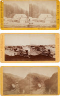 Photography:Stereo Cards, Nevada: Three Superb Albumen Stereoviews of Nevada Including One Example by Eadweard Muybridge.... (Total: 3 Items)