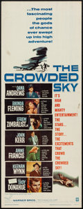"""Movie Posters:Drama, The Crowded Sky and Other Lot (Warner Brothers, 1960). Inserts (2) (14"""" X 36""""). Drama.. ... (Total: 2 Items)"""
