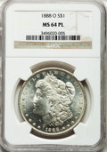 Morgan Dollars: , 1888-O $1 MS64 Prooflike NGC. NGC Census: (315/68). PCGS Population(258/97). Numismedia Wsl. Price for problem free NGC/P...