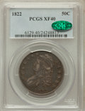 Bust Half Dollars: , 1822 50C XF40 PCGS. CAC. PCGS Population (79/578). NGC Census:(39/652). Mintage: 1,559,573. Numismedia Wsl. Price for prob...