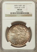 Morgan Dollars, 1878 7/8TF $1 Strong MS64 NGC. Vam-42, 7/7TF. NGC Census:(1014/97). PCGS Population (1458/244). Mintage: 544,000.Numismed...