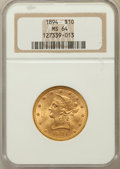 Liberty Eagles: , 1894 $10 MS64 NGC. NGC Census: (410/16). PCGS Population (113/1).Mintage: 2,470,778. Numismedia Wsl. Price for problem fre...