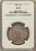 Bust Half Dollars: , 1830 50C Small 0 AU53 NGC. NGC Census: (137/1058). PCGS Population(124/778). Mintage: 4,764,800. Numismedia Wsl. Price for...