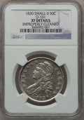 Bust Half Dollars, 1830 50C Small 0 -- Improperly Cleaned -- NGC Details. XF. O-101.Mintage: 4,764...