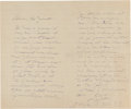 Other:European, A LETTER FROM RENOIR TO HIS SON, JEAN. THE RENOIR COLLECTION. ...