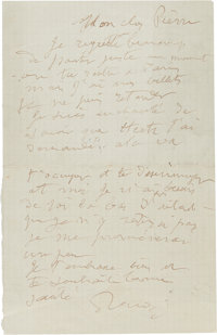 A LETTER FROM RENOIR AND HIS SON, JEAN TO RENOIR'S ELDEST SON, PIERRE  THE RENOIR COLLECTION