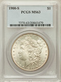 Morgan Dollars: , 1900-S $1 MS63 PCGS. PCGS Population (1485/2188). NGC Census:(835/1108). Mintage: 3,540,000. Numismedia Wsl. Price for pro...