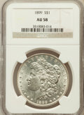 Morgan Dollars: , 1899 $1 AU58 NGC. NGC Census: (333/7632). PCGS Population(272/10162). Mintage: 330,846. Numismedia Wsl. Price for problem...
