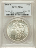 Morgan Dollars: , 1899-S $1 MS64 PCGS. PCGS Population (1251/508). NGC Census:(654/191). Mintage: 2,562,000. Numismedia Wsl. Price for probl...
