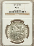 Morgan Dollars: , 1896-O $1 AU55 NGC. NGC Census: (918/2673). PCGS Population(903/2323). Mintage: 4,900,000. Numismedia Wsl. Price for probl...