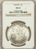 Morgan Dollars: , 1878 8TF $1 MS63 NGC. NGC Census: (2724/2353). PCGS Population(3830/2949). Mintage: 699,300. Numismedia Wsl. Price for pro...