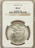 Morgan Dollars: , 1878 8TF $1 MS62 NGC. NGC Census: (1627/5077). PCGS Population(2051/6779). Mintage: 699,300. Numismedia Wsl. Price for pro...